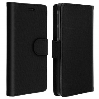 Universal Klapphülle, Etui mit Geldbörse für Smartphones Größe XL - Schwarz