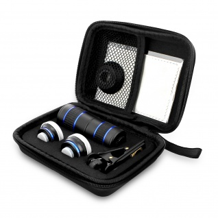 Universelles Objektiv Set für Smartphone-Teleobjektiv, Fisheye, Weitwinkel, 2 Makro