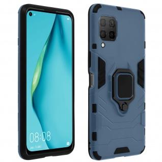 Stoßfeste Handyhülle Huawei P40 Lite mit Ring-Halterung - Blau