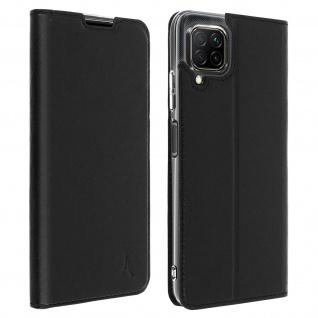 Akashi Flip Cover mit Kartenfach & Standfunktion für Huawei P40 Lite â€? Schwarz