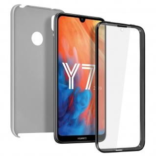 Schutzhülle für Huawei Y7 2019, Vorder- + Rückseite ? Silber