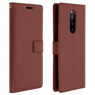 Flip Stand Cover Brieftasche & Standfunktion für Sony Xperia 1 - Braun