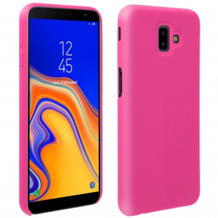 Halbsteife Silikon Handyhülle Galaxy J6 +, Soft Touch - Rosa