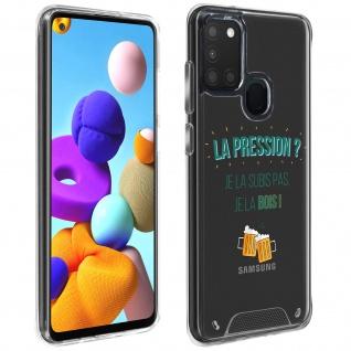 "Handyhülle für Samsung Galaxy A21s, Made in France ? "" La pression"" Design"