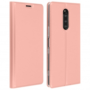 Klappetui mit Kartenfach & Standfunktion Sony Xperia 1 Rosegold