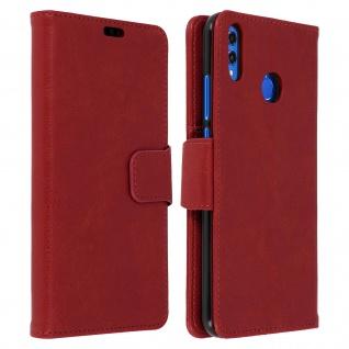 Flip Stand Cover Brieftasche & Standfunktion Huawei Honor 8X - Weinrot - Vorschau 1