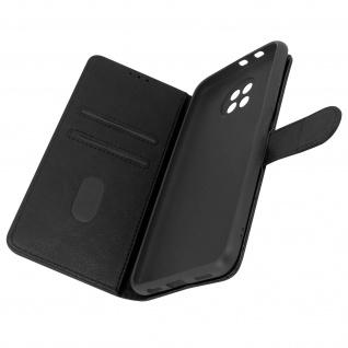 Flip Cover Geldbörse, Etui Kunstleder für Xiaomi Redmi Note 9T 5G ? Schwarz