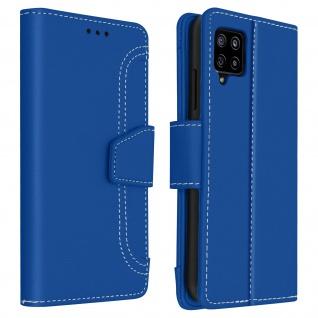 Samsung Galaxy A42 5G Klapphülle mit Portemonnaie - Blau - Vorschau 1