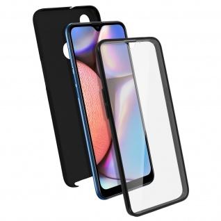 Schutzhülle für Samsung Galaxy A10s, Vorder- + Rückseite ? Schwarz