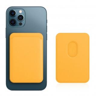 Magsafe iPhone 12 Kartenetui aus Leder, magnetische Befestigung ? Gelb