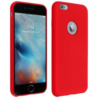 Halbsteife Silikon Handyhülle Apple iPhone 6 Plus / 6S Plus, Soft Touch - Rot