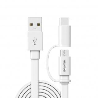 Huawei Original Micro-USB / USB-C Lade- / ßbertragungskabel, 1, 5m - Weiß