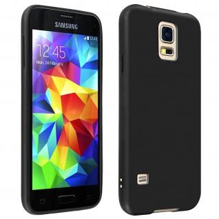 Gelhülle, Backcover für Samsung Galaxy S5, Galaxy S5 New, frosted case - Schwarz