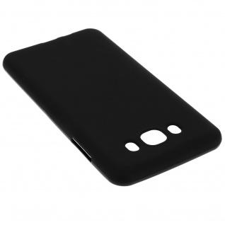 Unverbrüchliche schwarze Schutzhülle aus Silikon für Samsung Galaxy J7 2016