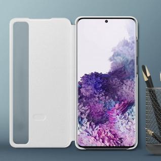 Original Samsung Clear View Cover, Klapphülle für Galaxy S20 Plus - Weiß - Vorschau 4