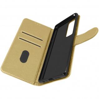 Klappetui mit Geldbörse, Kunstlederhülle für Samsung Galaxy A72 ? Gold
