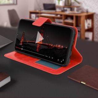 Flip Stand Cover Brieftasche & Standfunktion für Samsung Galaxy M20 - Rot - Vorschau 4