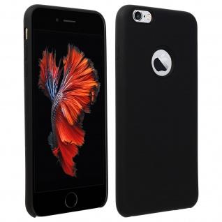 Halbsteife Silikon Handyhülle iPhone 6 +/6S +, Soft Touch - Schwarz