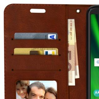Flip Stand Cover Brieftasche & Standfunktion Motorola Moto G6 Play/E5 - Braun - Vorschau 3