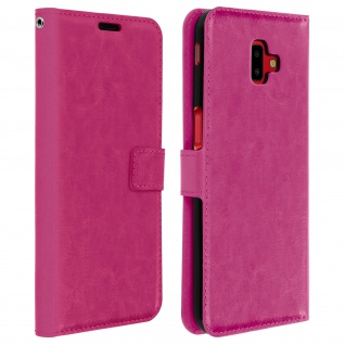 Flip Cover Stand Case Brieftasche & Standfunktion für Galaxy J6 Plus - Rosa