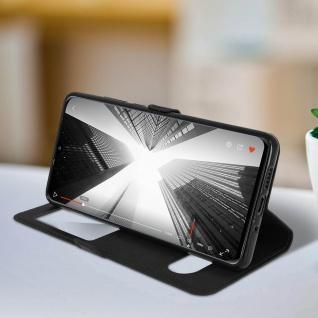 Huawei P30 Pro Flip Cover Doppelfenster & Standfunktion - Schwarz - Vorschau 3