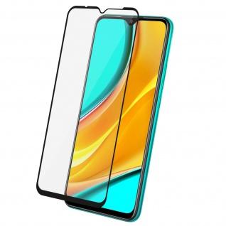 9H Härtegrad Displayschutzfolie für Xiaomi Redmi 9 â€? Rand Schwarz