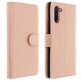 Flip Cover Geldbörse, Klappetui Kunstleder für Samsung Galaxy Note 10 â€? Rosegold