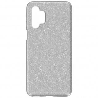 Schutzhülle, Glitter Case für Samsung Galaxy A32 5G, shiny &girly Hülle â€? Silber