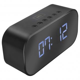 Bluetooth Wecker, Steuerungstasten 5Std. Akkulaufzeit, Setty � Schwarz