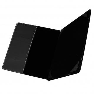 Universal 7 Zoll Tablet Hülle mit Fächern & Standfunktion, Blun - Schwarz