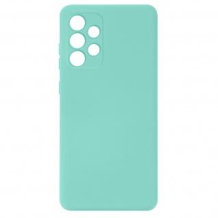 Halbsteife Silikon Handyhülle für Samsung Galaxy A32, Soft Touch ? Hellblau
