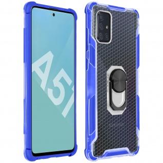 Hybrid Handyhülle mit Ring Halterung für Galaxy A51 - Blau