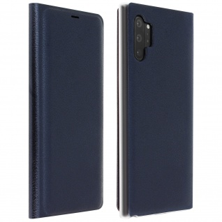 Flip Book Cover, Klappetui aus Kunstleder Galaxy Note 10 Plus - Dunkelblau