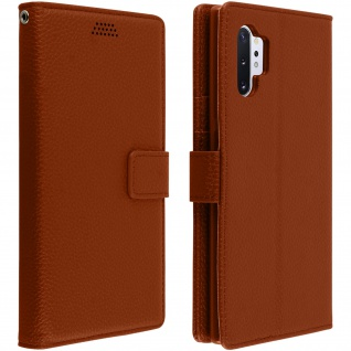 Samsung Galaxy Note 10 Plus Flip-Cover mit Kartenfächern & Standfunktion - Braun