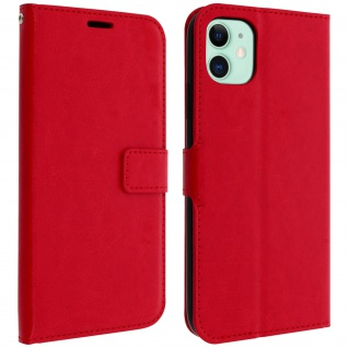 Flip Cover Stand Case Brieftasche & Standfunktion Apple iPhone 11 - Rot