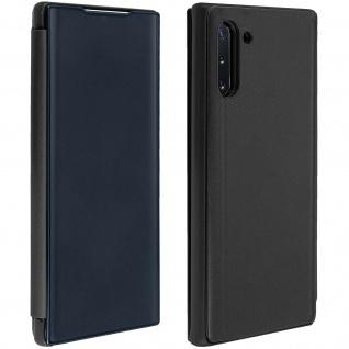 Samsung Galaxy Note 10 Flip Cover mit Spiegeleffekt & Standfunktion - Schwarz