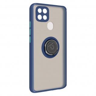 Hybrid Handyhülle mit Ring-Halterung für Oppo A15 ? Blau
