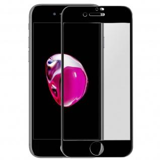 Premium Panzerglas Schutzfolie für Apple iPhone 7 Plus / 8 Plus - Rand Schwarz