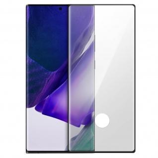 Premium Glas-Schutzfolie für Samsung Galaxy Note 20 Ultra - Rand Schwarz