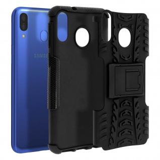 Stoßfeste Schutzhülle + Standfunktion für Samsung Galaxy M20 - Schwarz