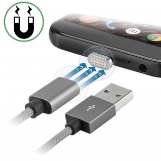 Magnetisches USB/ USB-C+iPhone/iPad Kabel Aufladen & Synchronisation - 4Smarts