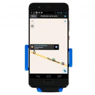 Kfz-Halterung für Smartphones Saugnapf + Lüftungshalterung - Blau - Vorschau 4