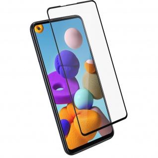 9H Härtegrad Displayschutzfolie für Samsung Galaxy A21s â€? Rand Schwarz
