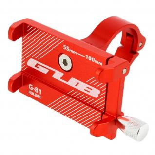 G81 Rote Fahrrad Lenkrad Halterung aus Stahl für 55 bis 100mm breite Smartphones