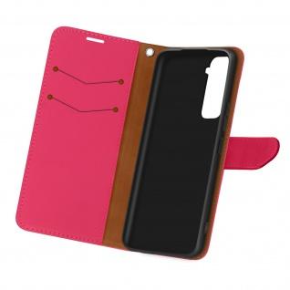 Kunstlederetui, Handyhülle mit Geldbörse für Samsung Galaxy S21 - Rosa
