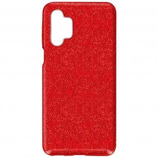 Schutzhülle, Glitter Case für Samsung Galaxy A32 5G, shiny & girly Hülle â€? Rot