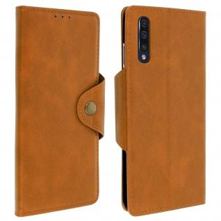 Sixties Style Klappetui, Hülle mit Geldbörse für Samsung Galaxy A50 - Kupfer