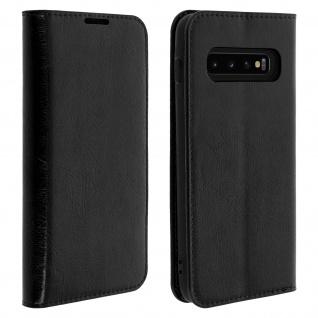 Business Leder Cover, Schutzhülle mit Geldbörse für Samsung Galaxy S10 â€? Schwarz
