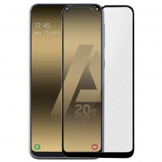 Premium Panzerglas Schutzfolie für Samsung Galaxy A20e - Rand Schwarz