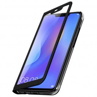 Flip Cover mit Smart View Sichtfenster für Huawei P Smart Plus - Schwarz - Vorschau 2
